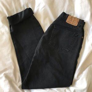 Vintage Eddie Bauer 90's Black Mom Jeans